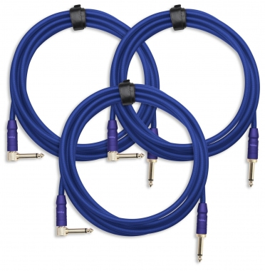 3-Piece SET Pronomic Trendline INST-3B Instrument Cable 3m blue