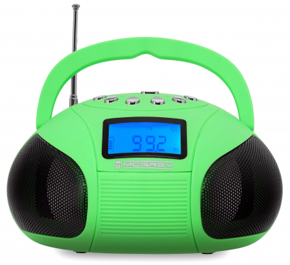 McGrey Boombox MC-50 BT-GR Bluetooth Speaker with USB/SD slot and FM radio, green
