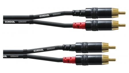 Cordial CFU 3 CC Cinchkabel 3 Meter Paar