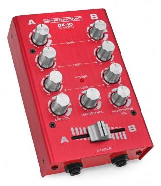 Pronomic DX-10R DJ module de mixage rouge