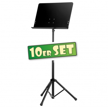 Ten-piece set: Deluxe Classic Cantabile Music Stand, collapsible