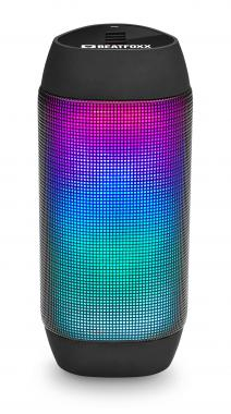 Beatfoxx LEDBeat portabler LED Bluetooth Lautsprecher USB, SD, AUX, schwarz  - Retoure (Zustand: sehr gut)