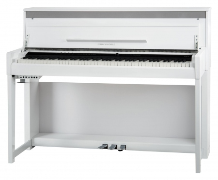 Piano eléctrónico Classic Cantabile UP-1 WM Upright en blanco mate