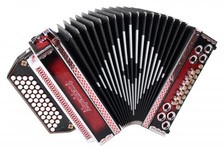 Alpenklang Pro 4/III Harmonika G-C-F-B Shadow Red