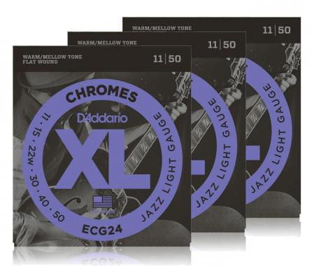 D'Addario ECG 24 Chromes 3er Pack