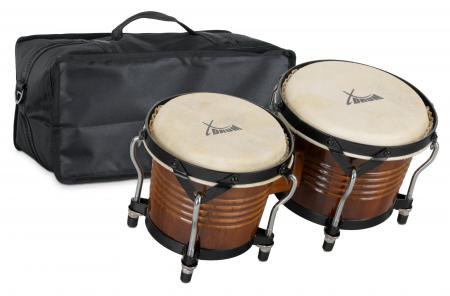XDrum Bongo Pro Tobacco SET incl. Bongo carrying bag