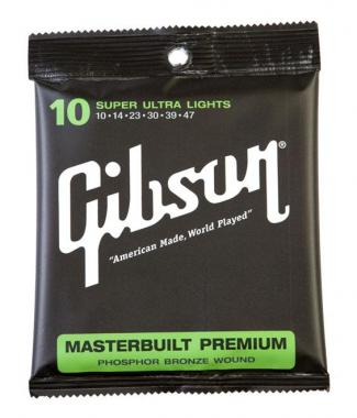 Gibson Masterbuilt Premium Phosphor Bronze Super Ultra Light