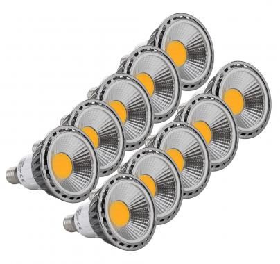 10-Piece Set Showlite LED Spot E14W05K30N, 5 watts, 330 lumens, E14 socket, 3000 Kelvins