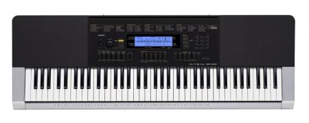 Casio WK-240 Keyboard 76 Tasten, Silber, inkl Netzteil  - Retoure (Zustand: sehr gut)