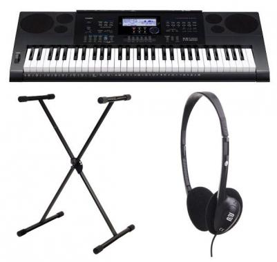 Casio CTK-6200 Keyboard Set inklusive Ständer und Kopfhörer
