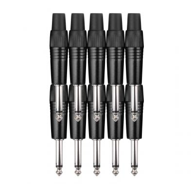 Pronomic JPLUG Black Klinkenstecker - 10er Pack
