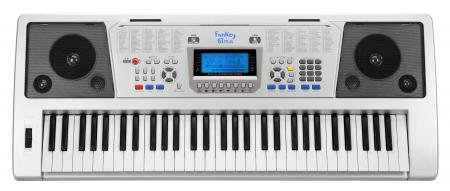 FunKey 61 Plus Keyboard + Power Supply + Sheet Music Rack