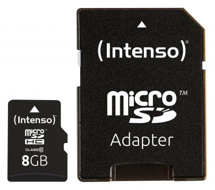 Intenso Micro SD Card 8 GB Class 10