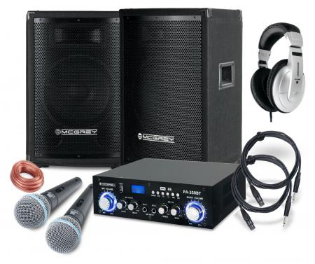 McGrey DJ Karaoke set completo Party-1500 800W
