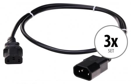 Pronomic IECIEC-0,5 Kaltgeräte Verlängerung Netzkabel  0,5m 3x