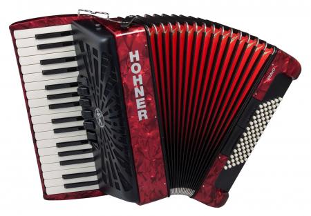 Hohner Bravo III 72 silent key rot  - Retoure (Zustand: sehr gut)