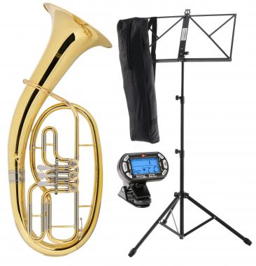 Classic Cantabile TH-33 Baritone SET with Instrument Stand, Tuner/Metronome and Music Stand
