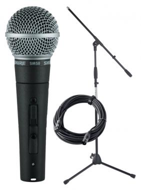 Shure SM 58-SE Mikrofon Set + Ständer+ Kabel