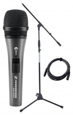Sennheiser E 835 S Mikrofon Set+ Ständer + Kabel