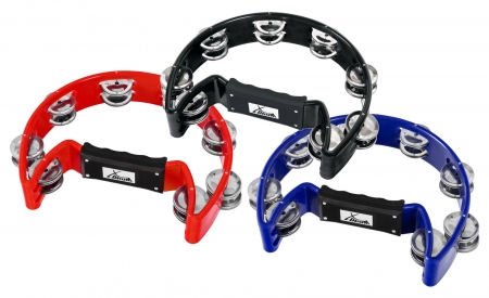 XDrum TM-1 BK Tambourin à Main, multicolore Lot de 3