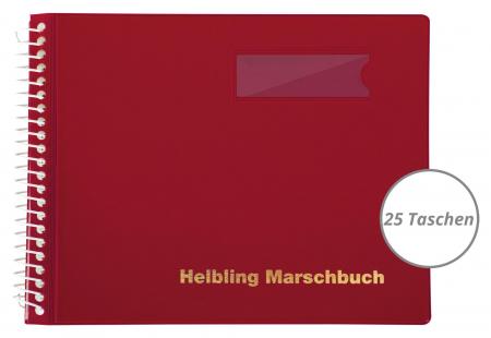 Helbling BMR25 Marschbuch rot 25 Taschen