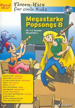 Megastarke Popsongs inkl. CD – Band 8