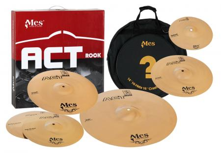 "MES Drums Series Bekken Masterset, incl. (14"" HH / 14"" + 16"" Crash / 20"" Ride / 10"" Splash)"