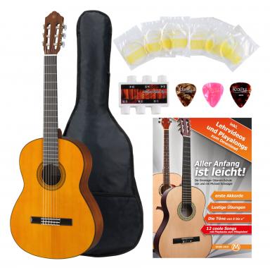 Yamaha CG102 Fichte Konzertgitarre + Zubehörset