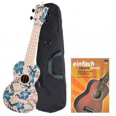 Classic Cantabile Beachbuddy Hula-Holiday Ukulele Set inkl. Schule
