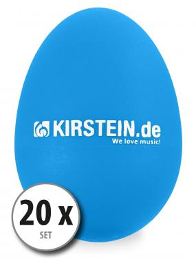 20x Kirstein ES-10B egg shaker bleu medium set
