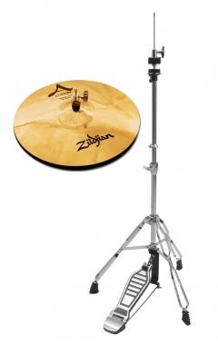 "Zildjian A Custom 14"" Hi-Hat + HiHat Maschine SET"