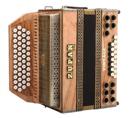 Zupan Vintage IVD, acordeón Olive G-C-F-B medioa tonos, Moll bajos, H-Bass