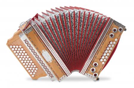 """Alpenklang 4/III """"Deluxe"""" Harmonika G-C-F-B Kirsch"""