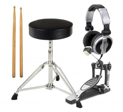 XDrum Electronic Drum accessory pack pro pedal, sticks, stool, headphones