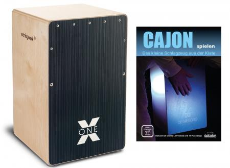 Schlagwerk CP160 Cajon X-One Hard Coal Stripes Set inkl. Cajonschule