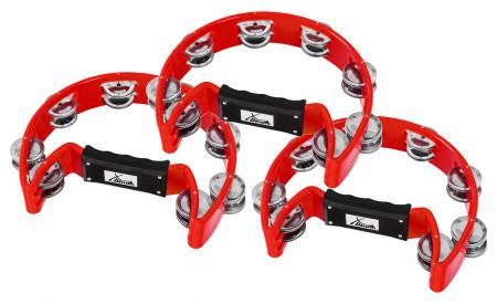 XDrum TM-1 RD hand tambourine, black set of 3
