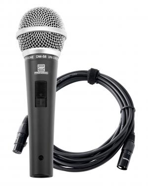 Pronomic DM-58 Vocal Microphone with Switch SET incl. 5m XLR cable