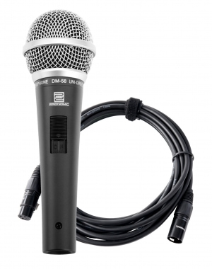 Pronomic DM-58 micrófono vocal con interruptor set incl. 5m XLR cable
