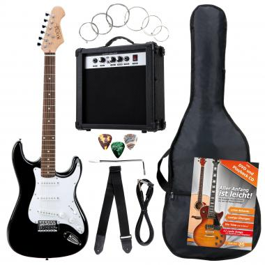 Rocktile Banger's Pack E-Gitarren Set, 8-teilig Black  - Retoure (Zustand: gut)