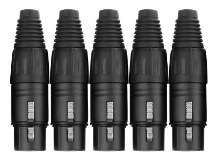 Pronomic connector set XLR male 5 pcs black