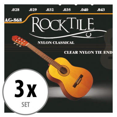 Rocktile Classical Guitar Strings pack of 3