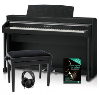 Kawai CA-67 B Digitalpiano Schwarz Matt SET inkl. Bank + Kopfhörer + Pianoschule