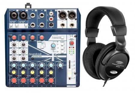 Soundcraft Notepad-8FX Kompaktmischpult Set inkl. Kopfhörer