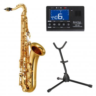 Yamaha YTS-280 Tenorsaxophon Goldlack Set inkl. Metrotuner und Ständer