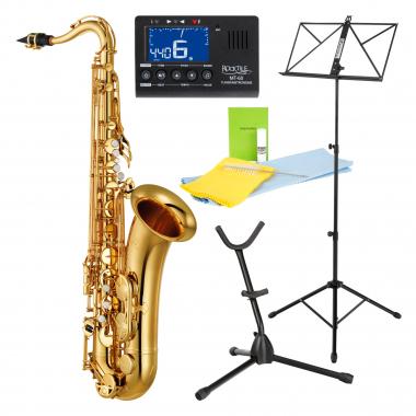 YAMAHA YTS-280 Tenorsaxophonset Set inkl. Metronom, Saxständer, Notenständer und Reinigungsset