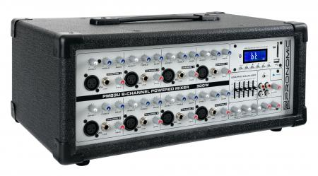 Pronomic PM83U Power mezclador amplificador de 8-canales con USB/SD/Bluetooth MP3-Player