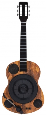 """Beatfoxx GT-25 """"Chuck"""" Guitar-shaped Turntable for Wall Mounting with Bluetooth®"""