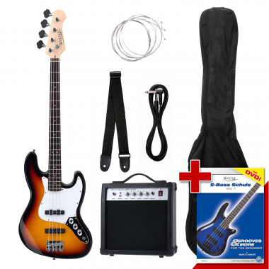 Rocktile Groover's Pack JB E-Bass SET Sunburst