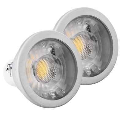 2-piece SET Showlite LED Spot, COB GU10W07K30D 7 Watt, 550 lumens, GU10, 3000K, dimmable