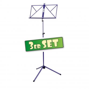 3-Piece Classic Cantabile 100 Music Stand Set, purple